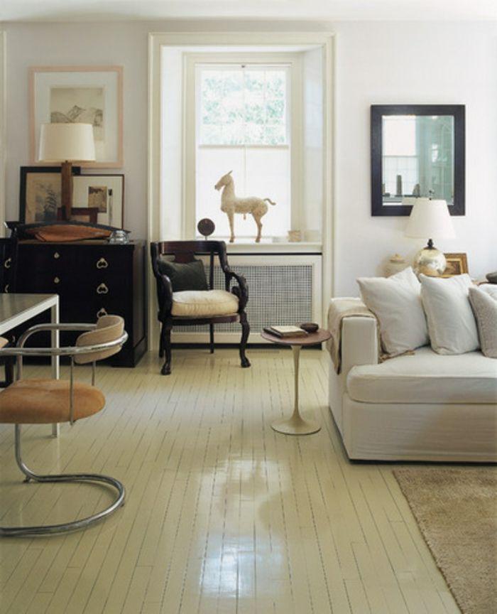 heizkörperverkleidung wohnzimmer dekoration weißes drahtnetz