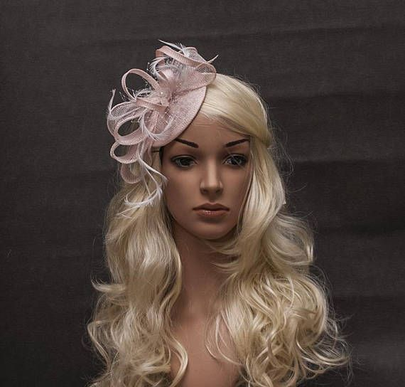 Light pale pink lovely fascinator hat for your special occasions ... 4a6f93309ac