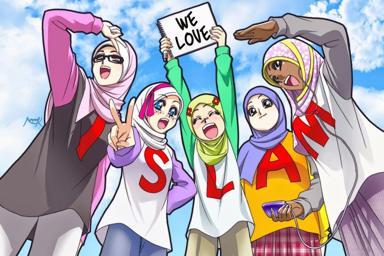 Pin By 888 Daisuki Kakaino On Muslimah Anime Muslim Anime Anime People