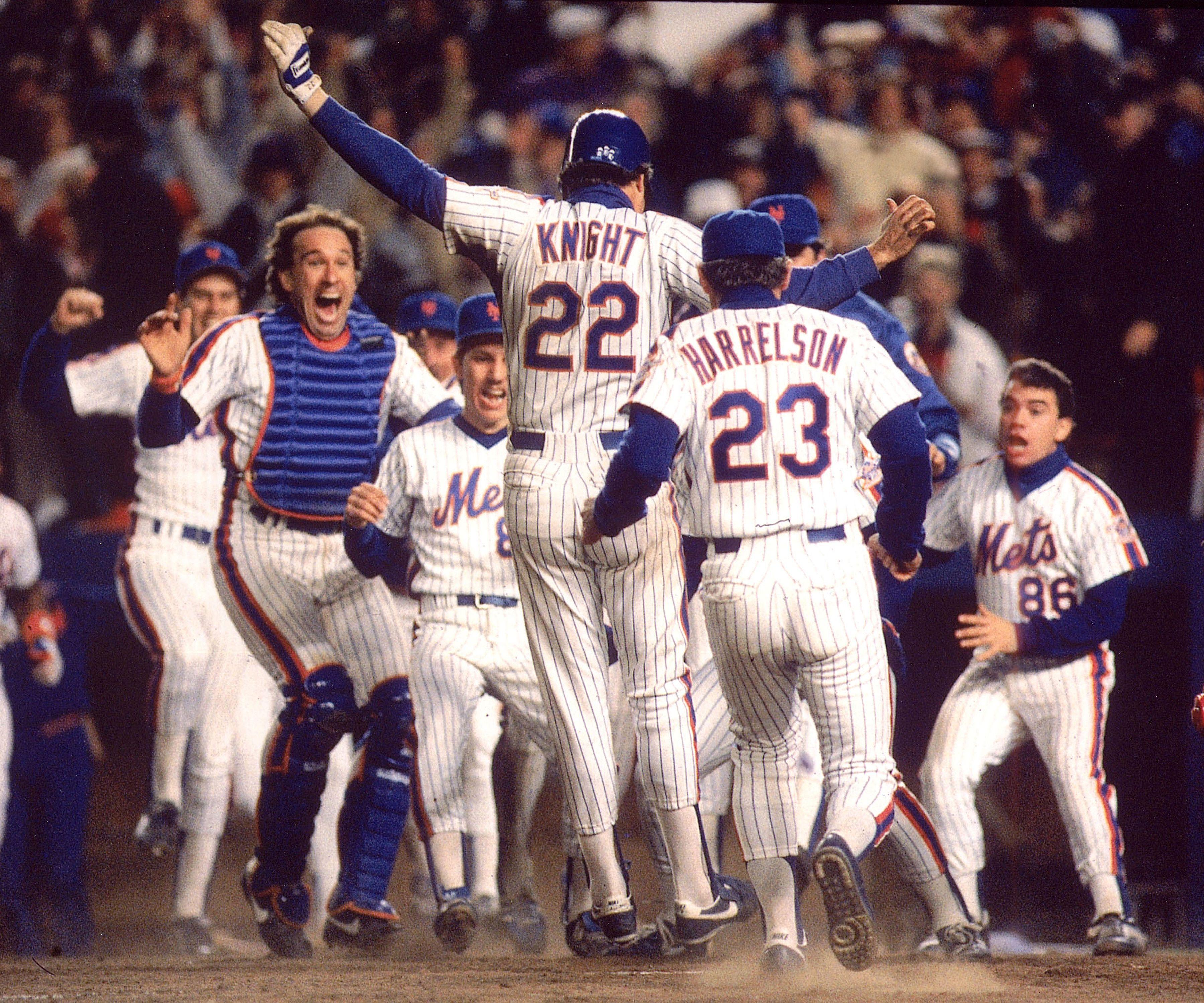 Gary Carter New York Mets Celebrates Winning 1986 World Series 8x10 Photo