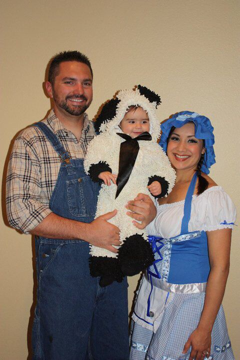 Mary Had A Little Lamb Halloween Costume | Family Halloween Costume Family Of 3 Mary Had A Little Lamb And