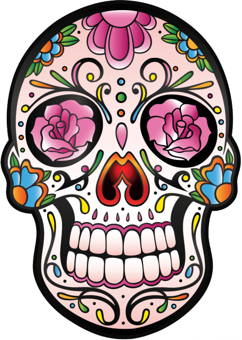 sticker calavera tete de mort mexicaine 5 mpa d co dia de los muertos. Black Bedroom Furniture Sets. Home Design Ideas