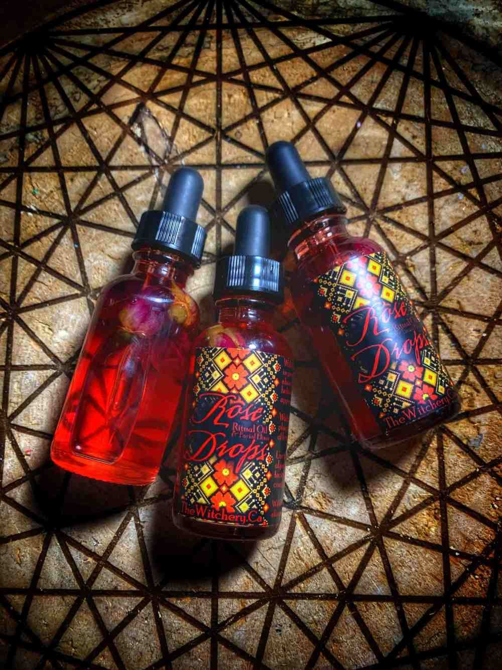 Rose Drops Ritual Oil Facial Elixir Even Out Skin Tone Healing Spells Love Symbols