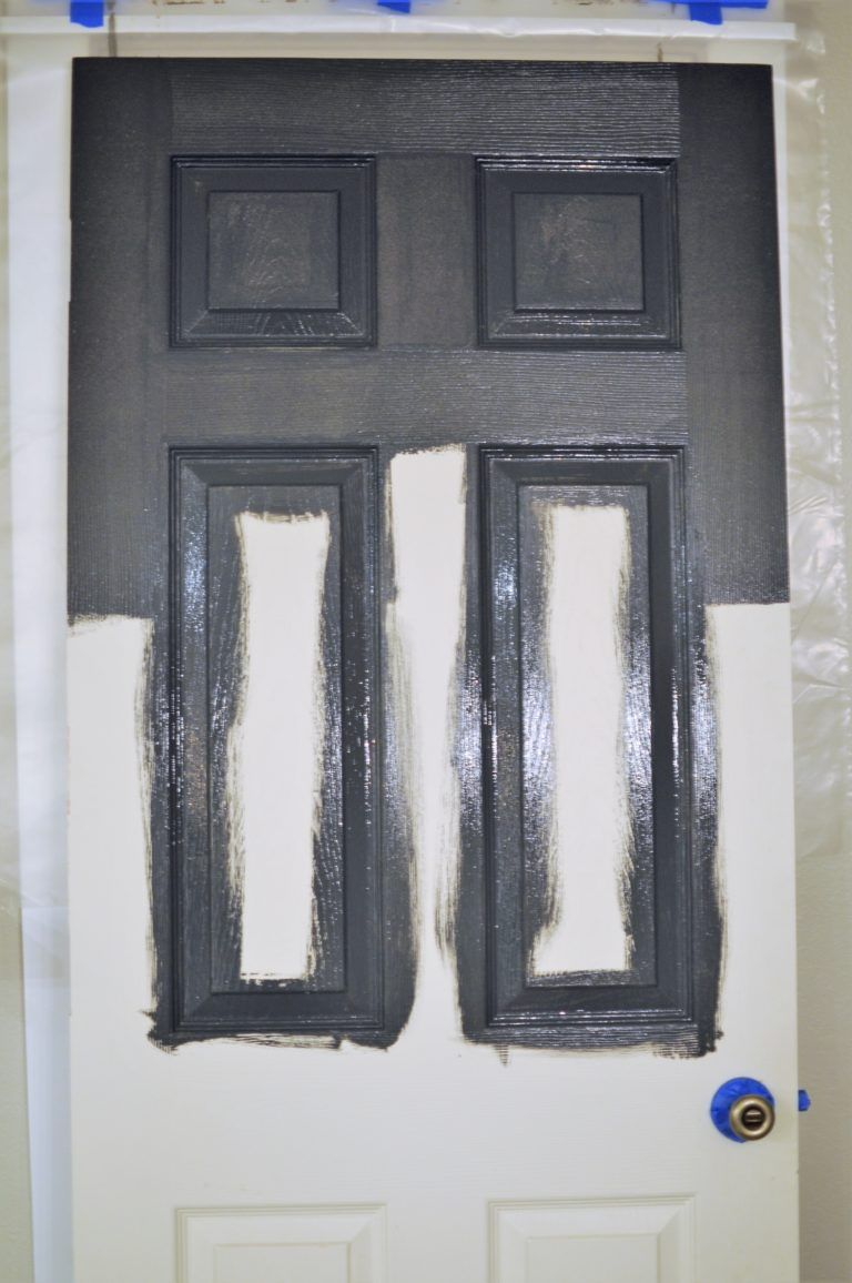 How To Paint A Panel Door Perfectly In Under An Hour Joyful Derivatives Painting Interior Doors Black Black Interior Doors Paint Doors Black
