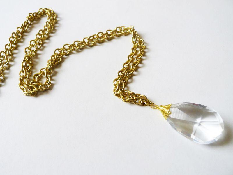 Thanks i made it diy vintage chandelier crystal necklace make thanks i made it diy vintage chandelier crystal necklace aloadofball Choice Image