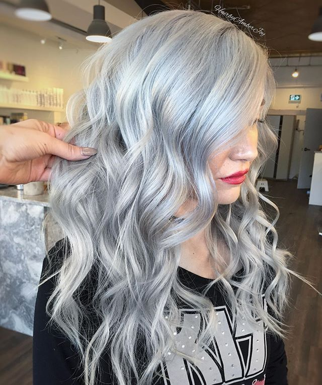 How To Get Grey Hair Silver Blonde Hair Grey Hair Color Silver