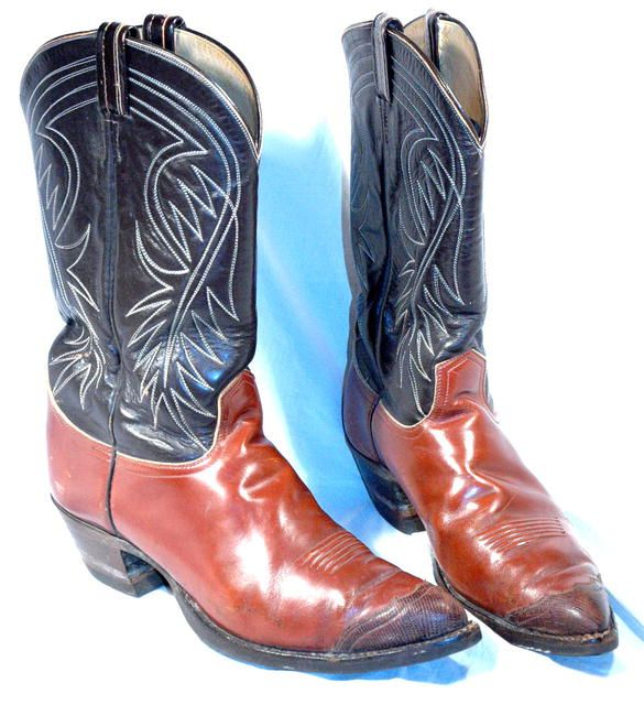 6d75c3c0a87 Vintage 3-tone Lizard Tips Tony Lama Boots 13 | Leather Boots ...