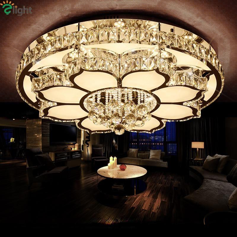 Luxury Modern Lustre K9 Crystal Led Ceiling Chandelier Flower