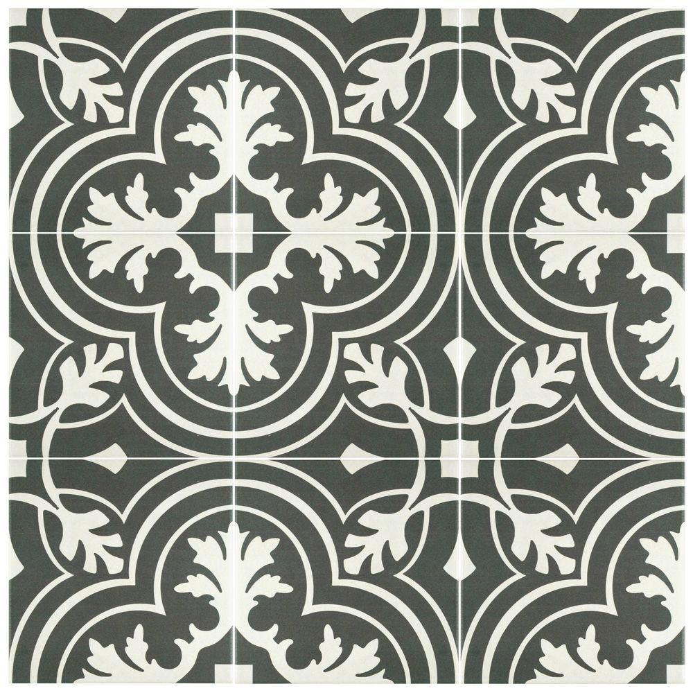 Merola Tile Take Home Sample Twenties Classic Encaustic Ceramic Floor And Wall 7 3 4 In X Frc8twcl The Depot Tiles