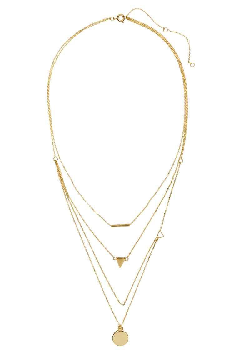 el más nuevo 659ef 2807c Collar asimétrico   H&M 7€   MODA - H&M   Collares, Cadena ...