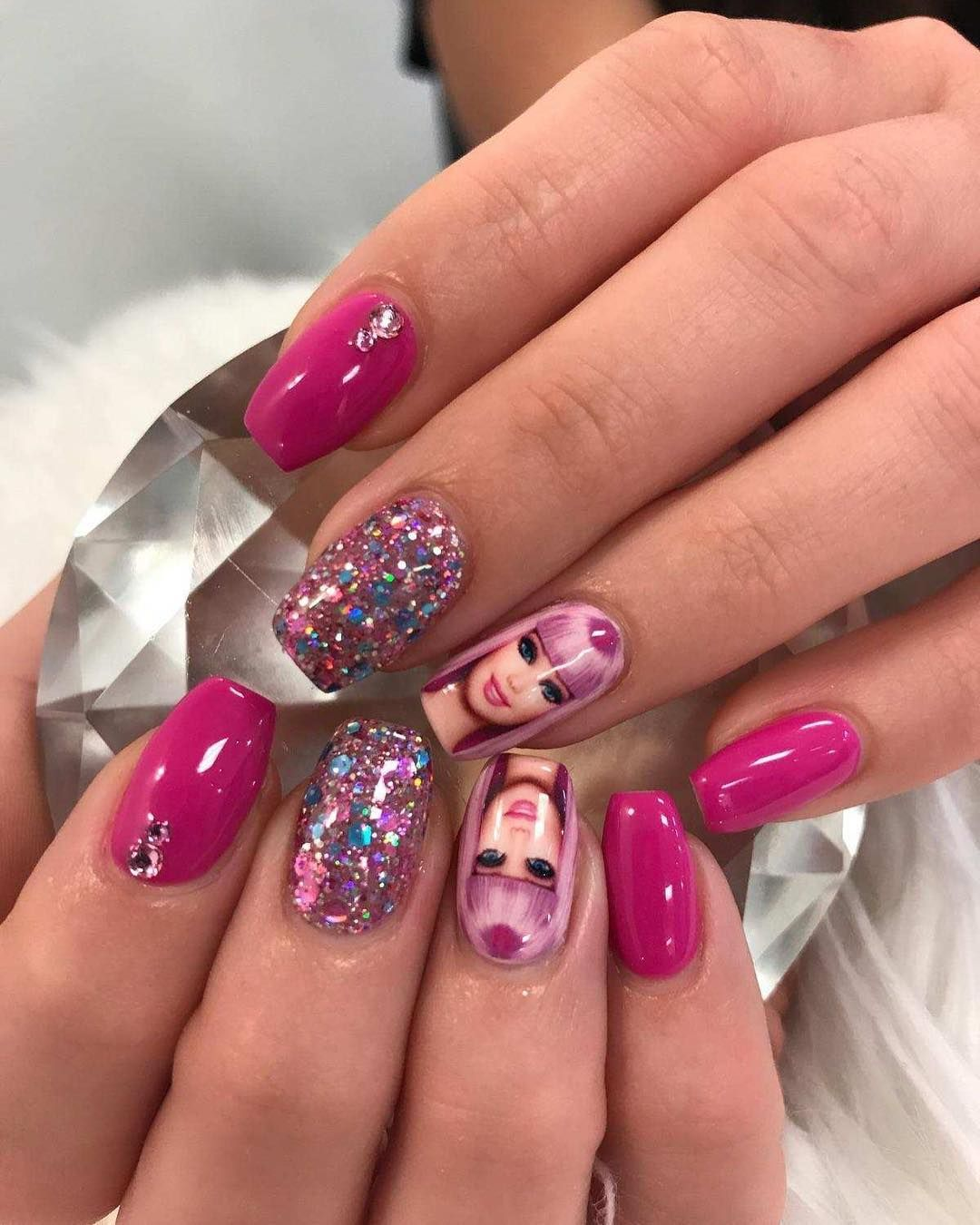 Barbie Pink Nails By Bri From Nohea Nails In Las Vegas Barbie Pink Nails Pink Nails Nails