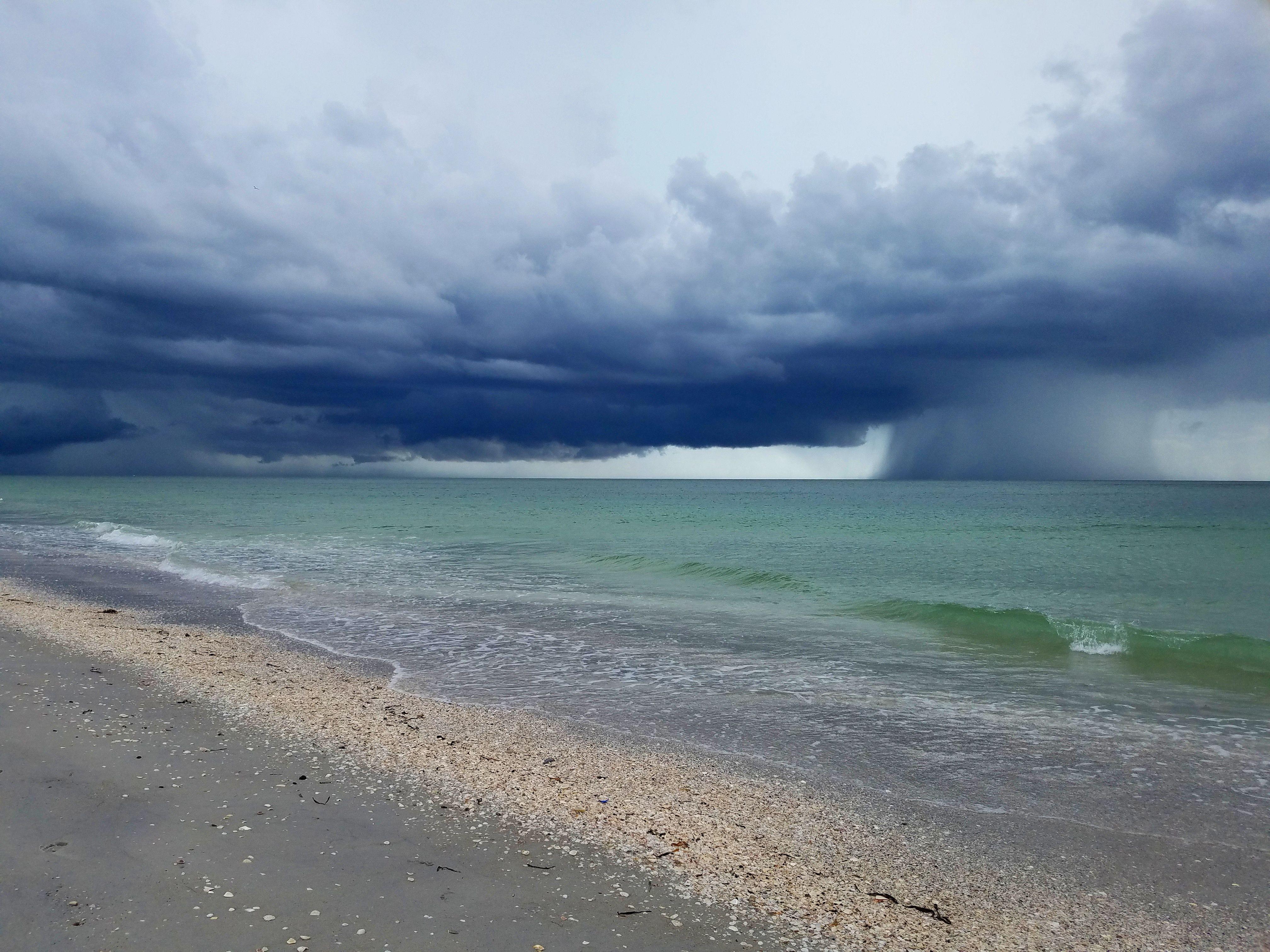 Rain or shine, a walk on the beach is always welcome ...
