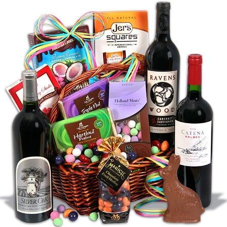 A grown up easter basket woooohooo ill take two please hehe our easter baskets are filled with candies and gourmet goodies the bunny will look like an amateur our easter gift baskets are perfect for kids or adults negle Images