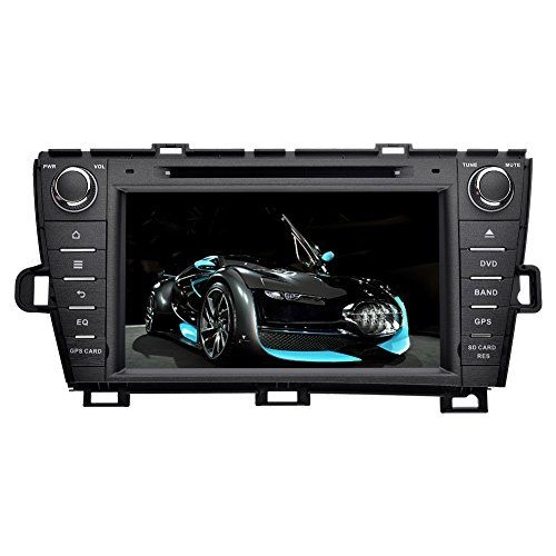 YINUO Touch Screen Car Stereo for Toyota Prius 2009-2013 In-Dash Vehicle GPS Navigation Unit with DVD iPod iPhone Music 1080P-video Steering Wheel Control, Left Driving ** For more information, visit image link.