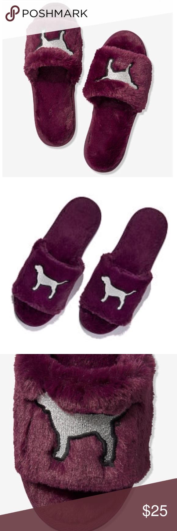 NEW VS PINK Open Toe Slippers | Open