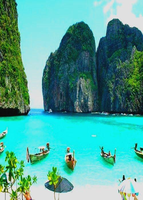 Maya Bay Beach Krabi Thailand With
