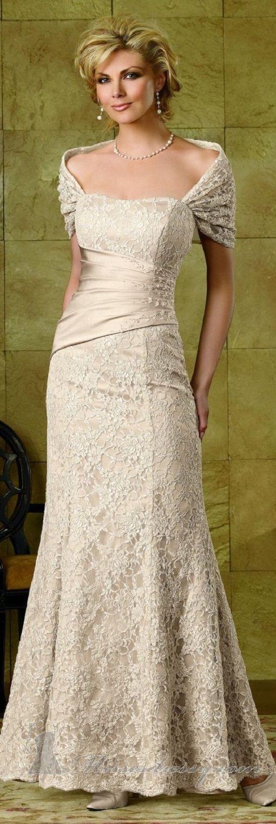 wedding gowns for older brides over 40 Second wedding