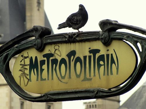 Station de metro Saint-Michel, Paris