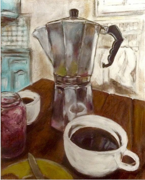 Coffee Pot. by jodihills on Etsy