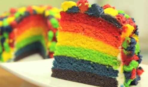 طريقة عمل كيكة قوس قزح Cake Recipes Colourful Cooking Cake Cake Cake Decorating With Fondant