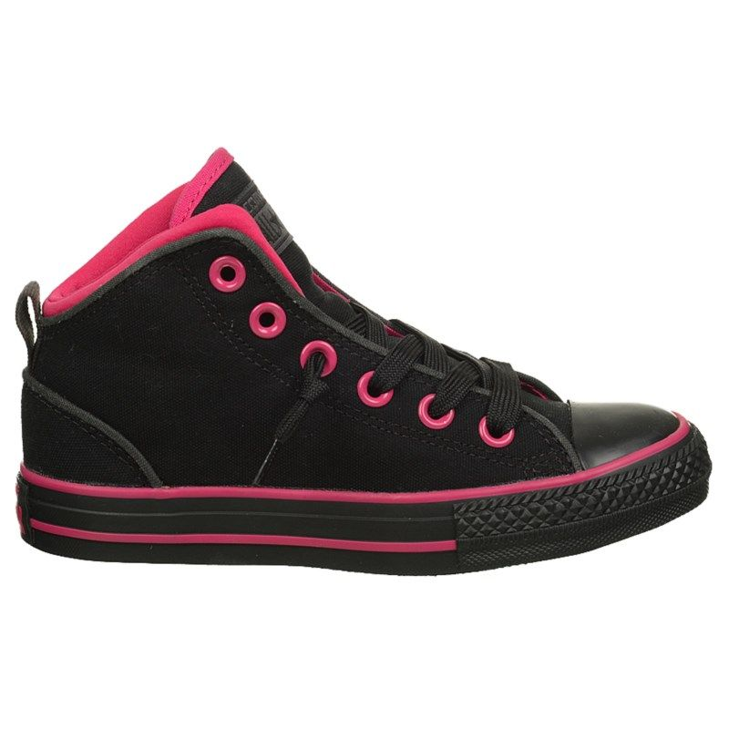 Converse Kids' Chuck Taylor All Star Static Mid Top Sneakers (Black/Pink)