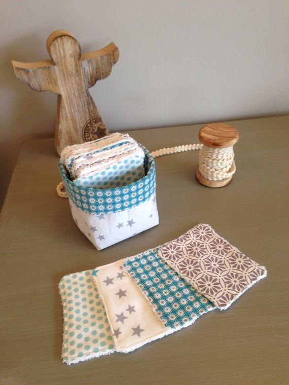 lingettes d maquillantes lavables et leur panier assorti. Black Bedroom Furniture Sets. Home Design Ideas