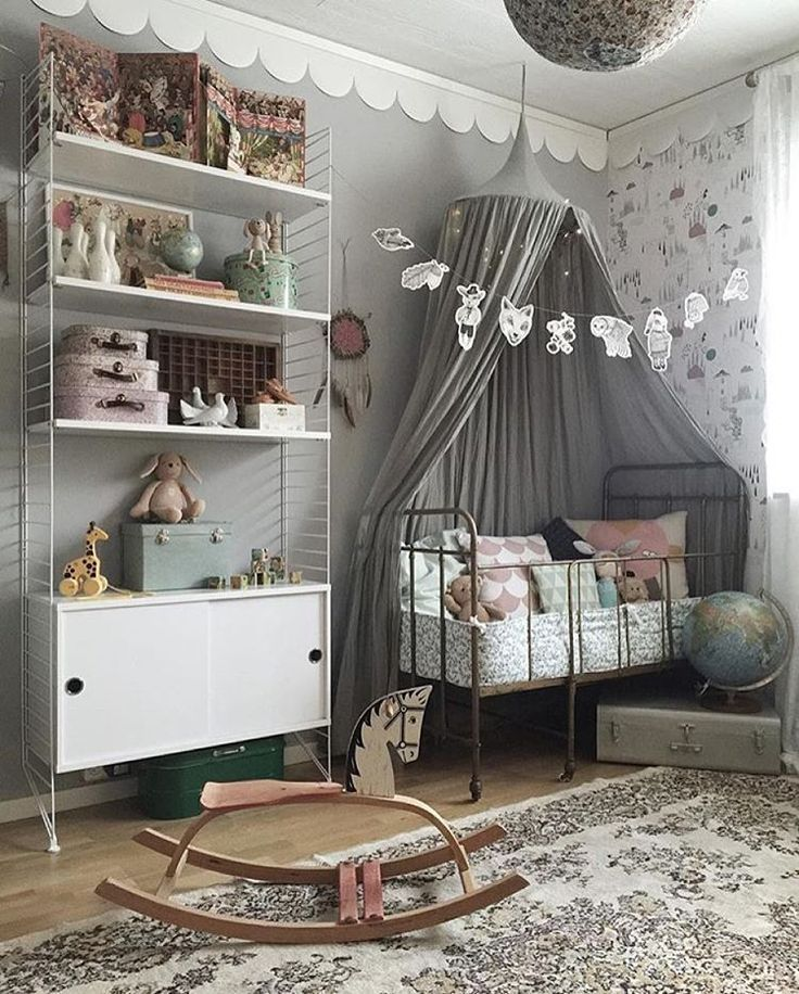 This Is A Lovely Vintage Gender Neutral Nursery. Love The Gray And White  Tones With
