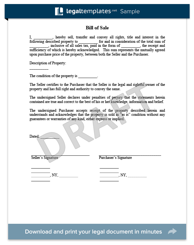 Bill Of Sale Sample For More Information On The Bill Of Sale And How To Get One For Free Visit Https Legaltemp Bills Money Blogging Downloadable Templates