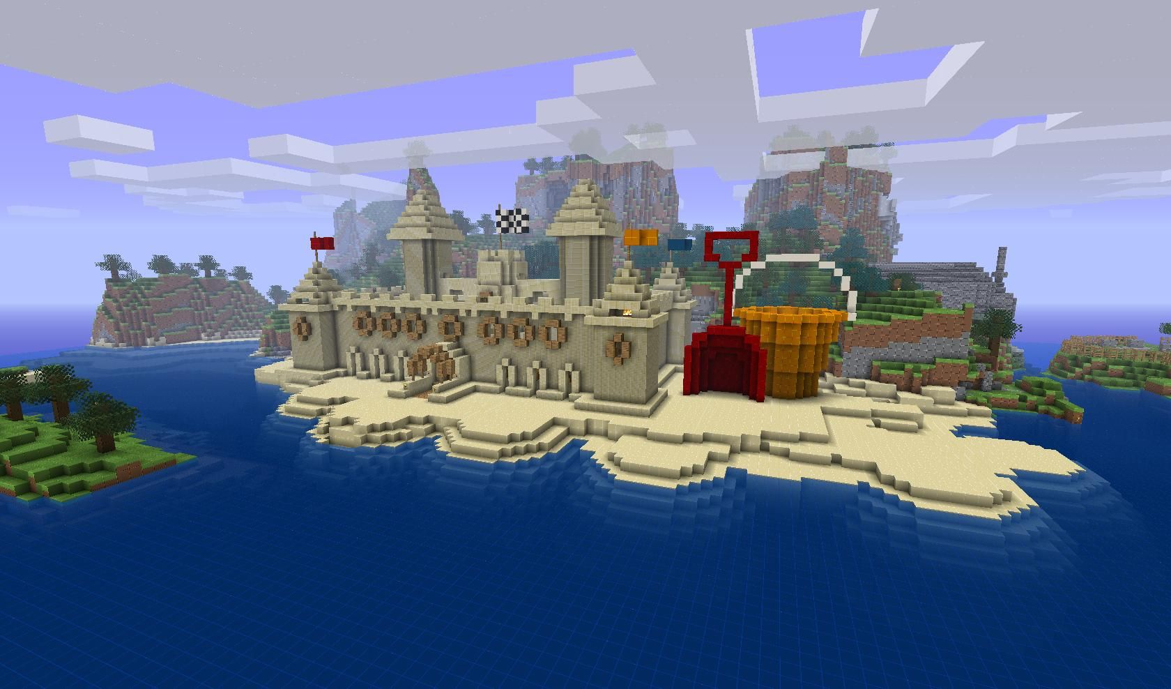 Yes, it's a sand castle    Minecrafting   Minecraft, Minecraft