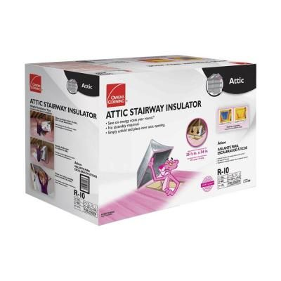 Owens Corning Attic Stair Insulator Tent Cover Ii 25 1 2 In X 54 In As2 Attic Ladder Insulation Attic Stairs Attic Renovation