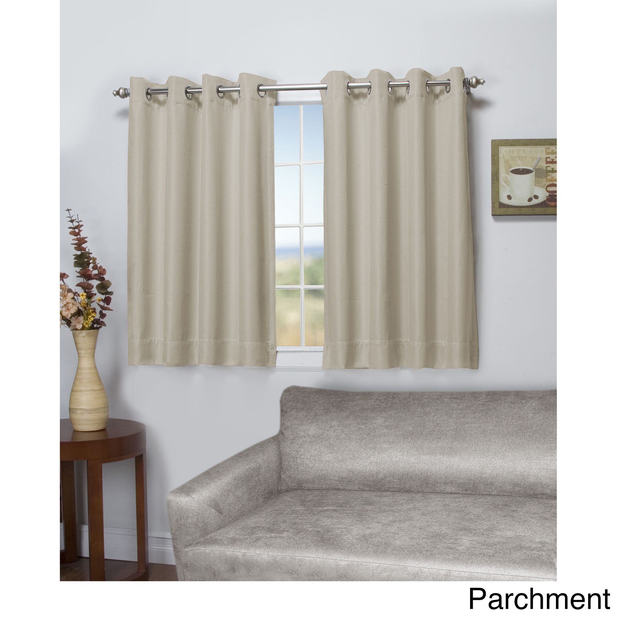 Ricardo Tacoma Latte Double Blackout Short Length Grommet Curtain Panel 50 Inch Wide X 54