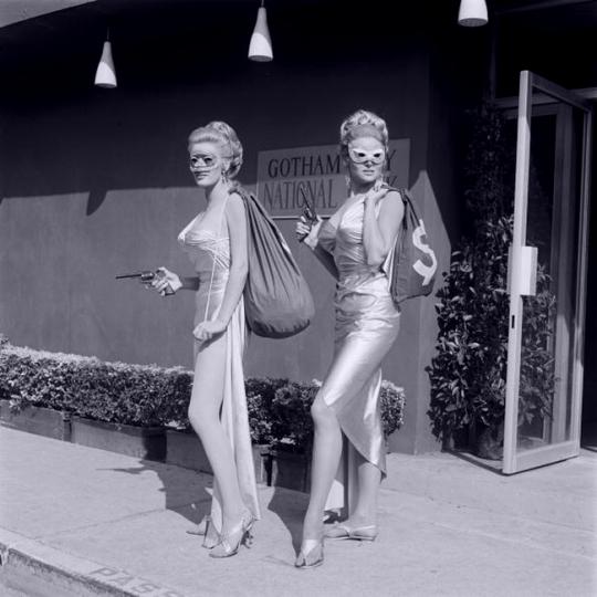 June Wilkinson & Inga Neilsen on Batman, 1968.