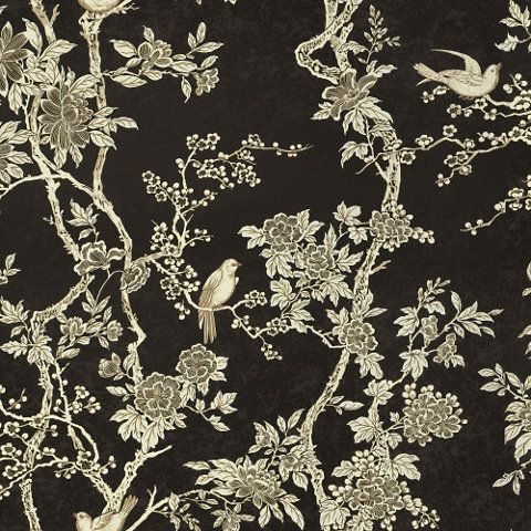 LWP30572W, MARLOWE FLORAL, EBONY, By Ralph Lauren | Source 4 Interiors Online
