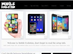 Mobile Evolution WordPress theme