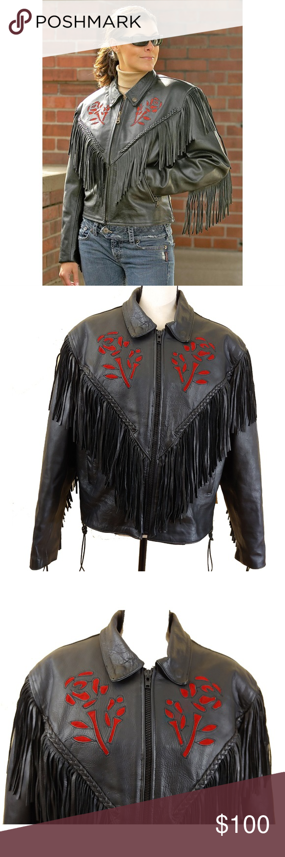 Interstate Leather Women S Motorcycle Jacket Xl Motorcycle Jacket Women Leather Women Jackets [ 1740 x 580 Pixel ]