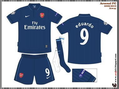 purchase cheap 4ccd6 0e07c Arsenal Kit 2009-2010 Away 3 | Arsenal Kits History ...