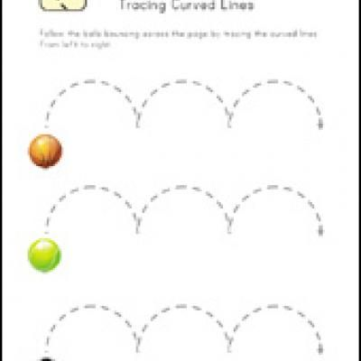tracing lines worksheets preschool - Preschool Tracing Pages