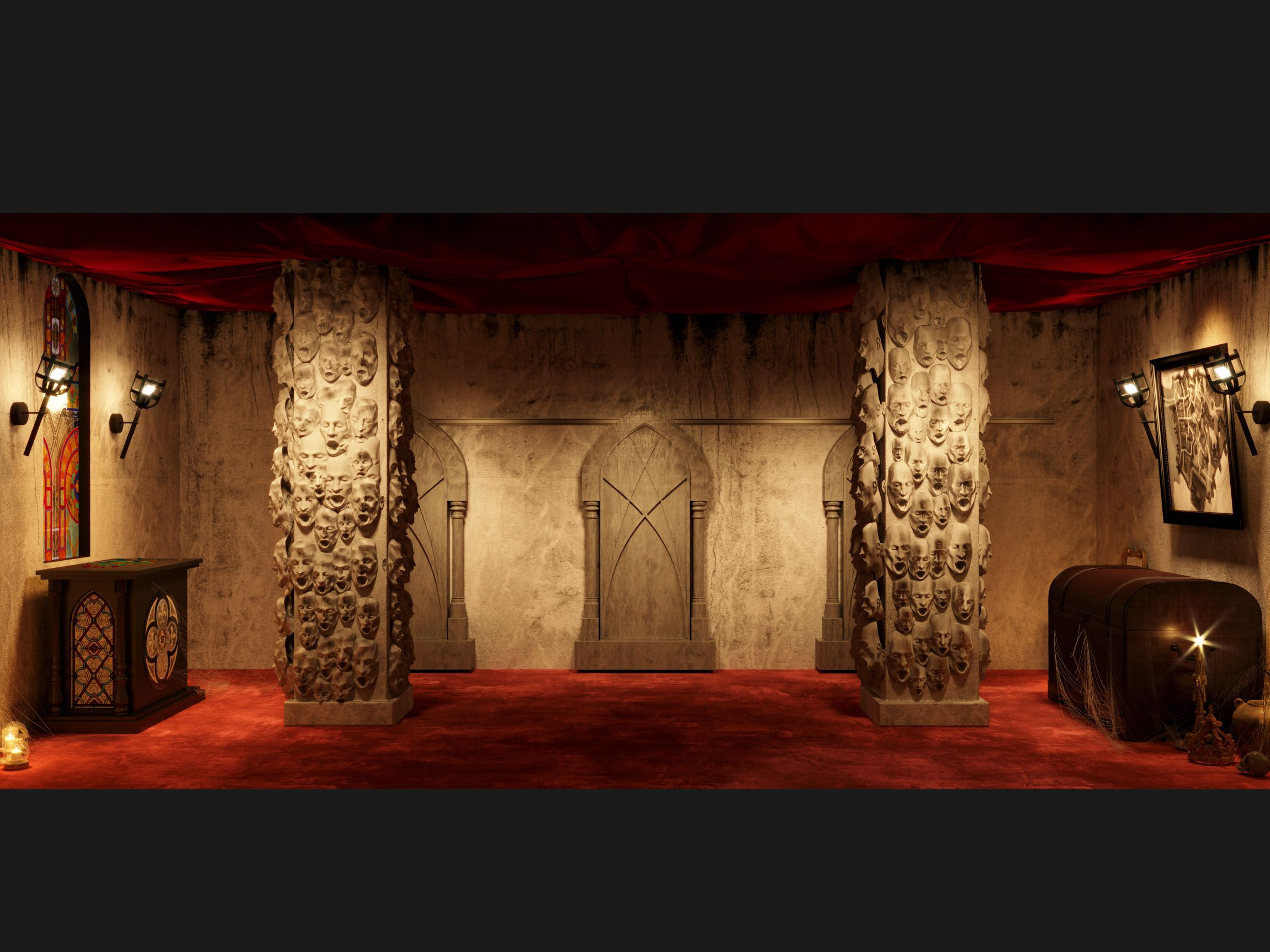 3dvisualization for vampire slayers escape room by a