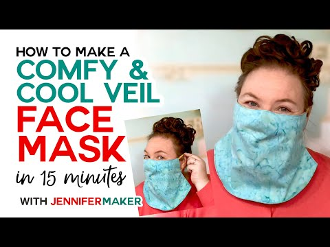 Easy Veil Face Mask Pattern Cool for Summer! Jennifer