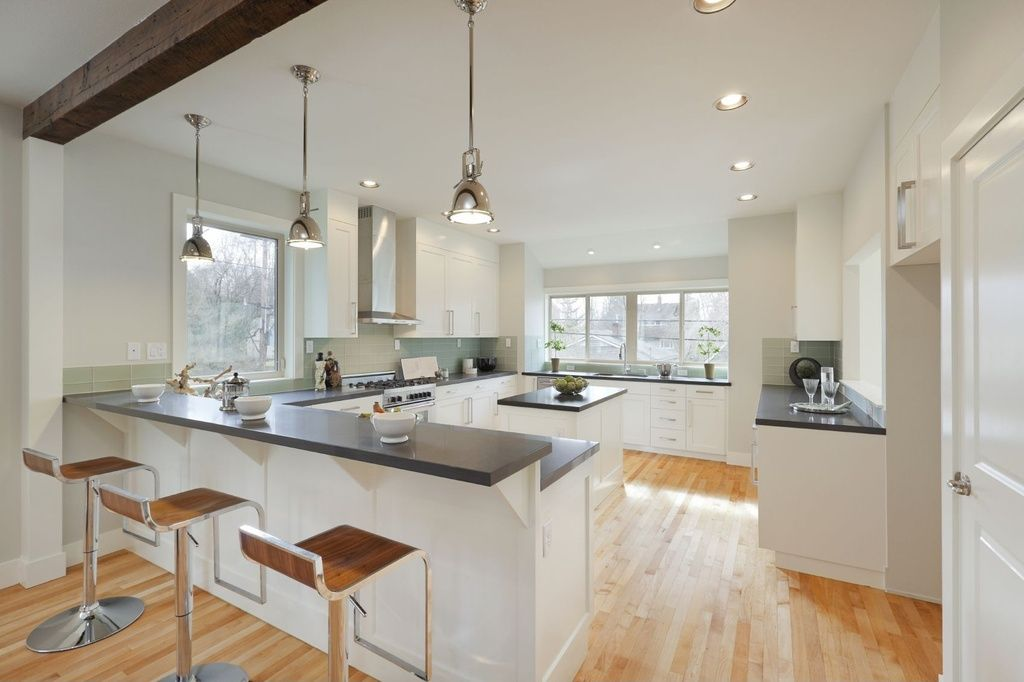 contemporary kitchen with undermount sink pendant light concrete counters kitchen island on c kitchen id=71244