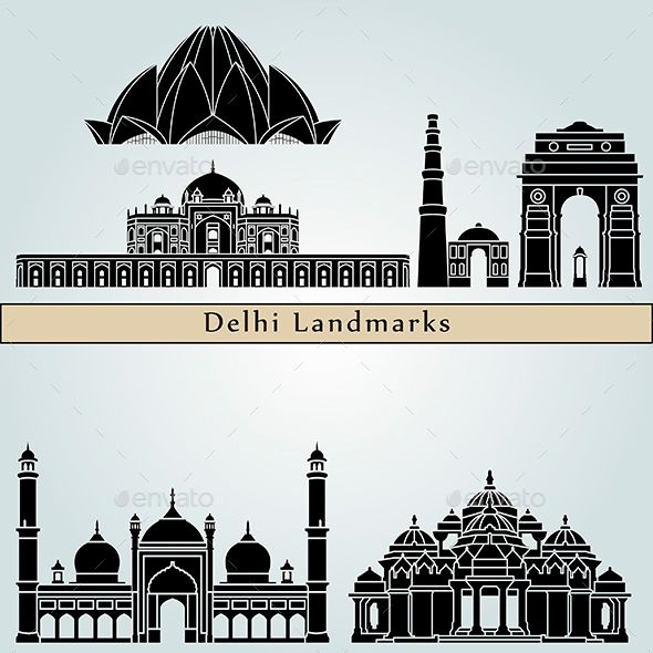 Delhi Landmarks And Monuments Monument City Art Perspective Art