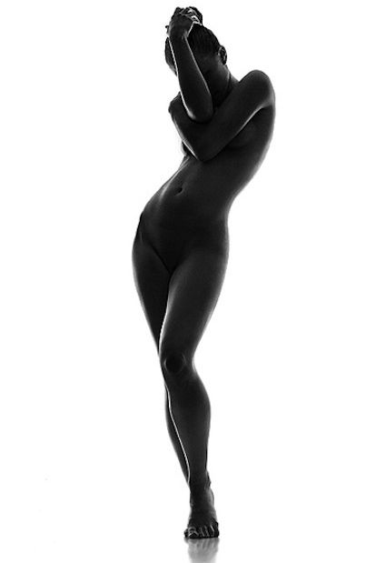 black white figure and photography Nude