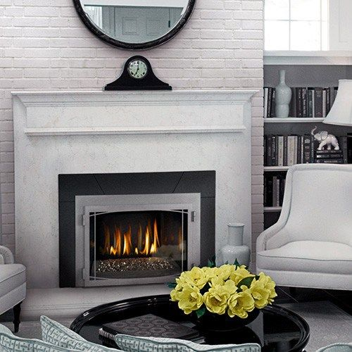 napoleon gas insert hearth manor fireplaces gta fireplace rh pinterest com