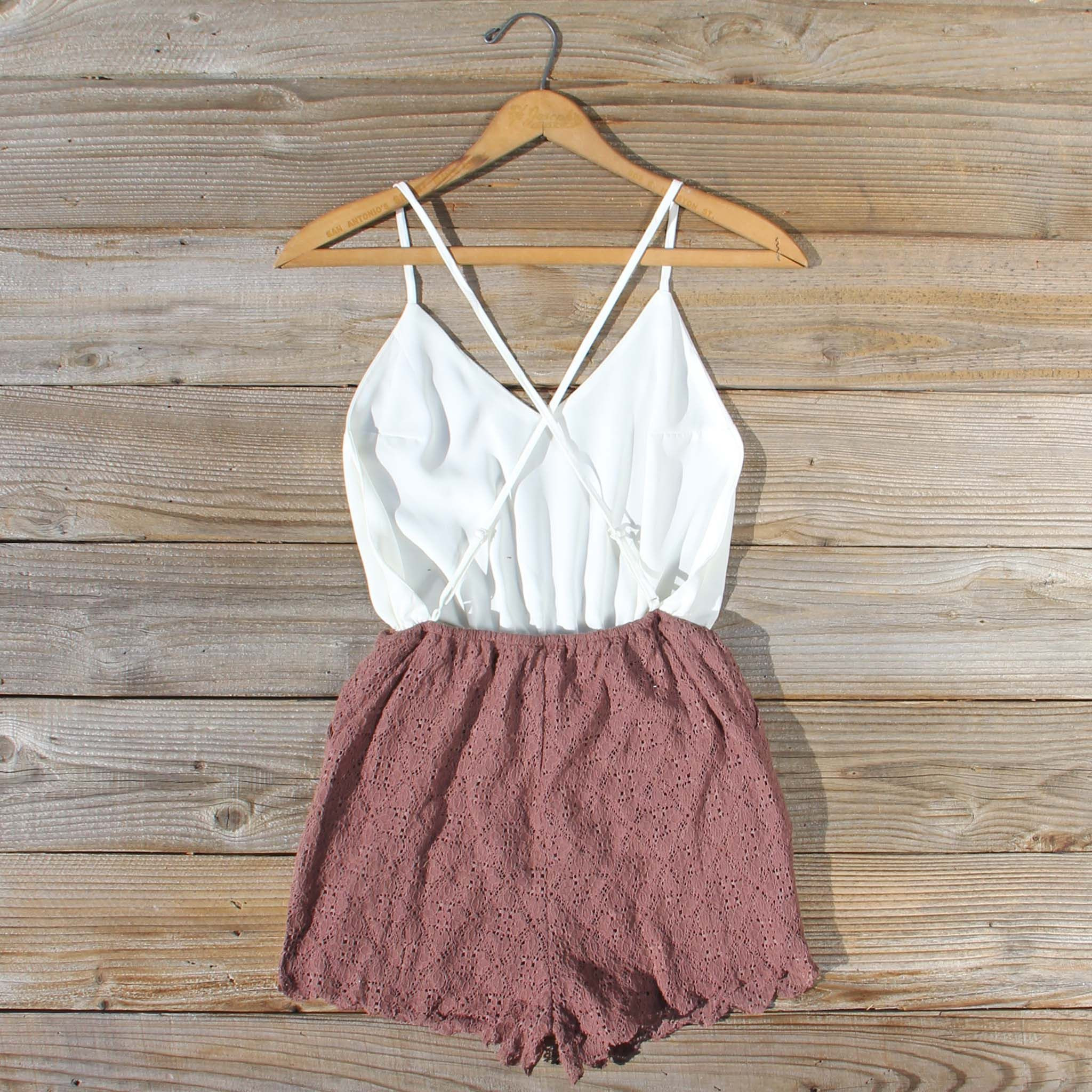 26d71cd64c7 Adobe Lace Romper - a sweet strappy back pairs and lace details add the  perfect touch to this sweet romper. Shop all our new affordable romper and  dress ...