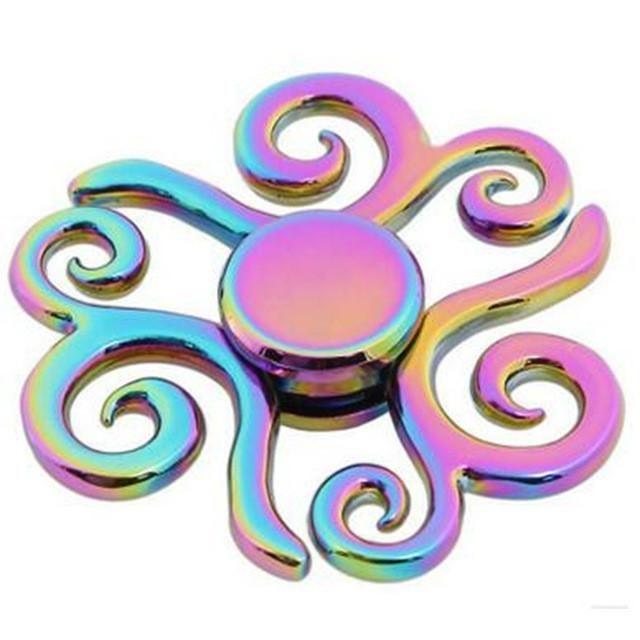 Smare Rainbow brass EDC Fid Spinner Tri spinner Hand Spinner Toy