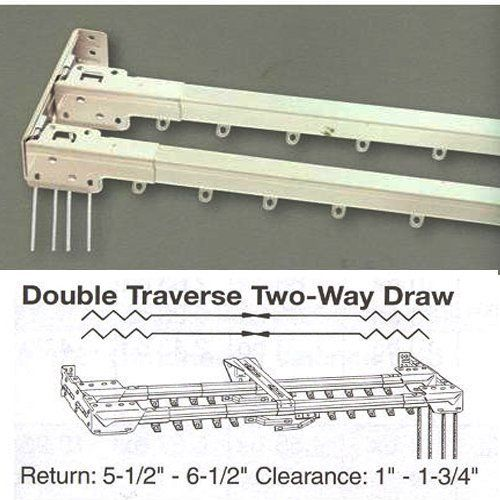 48 86 Double Traverse Curtain Rod By Kirsch By Kirsch 104 99
