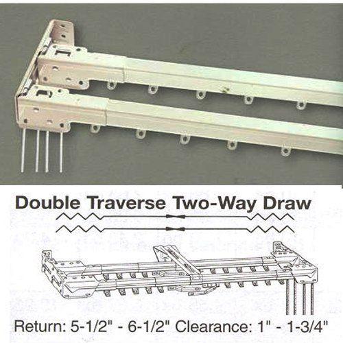 48 86 Double Traverse Curtain Rod By Kirsch By Kirsch 104 99