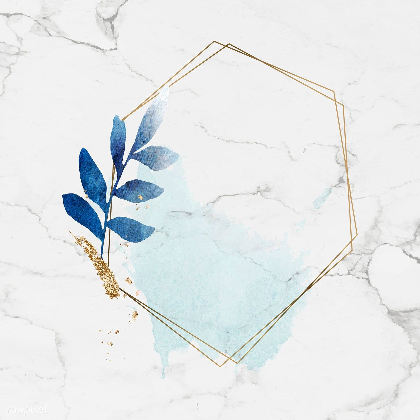 Download Premium Vector Of Golden Hexagon Frame On Gray Marble Background Marble Background Flower Background Wallpaper Grey Marble