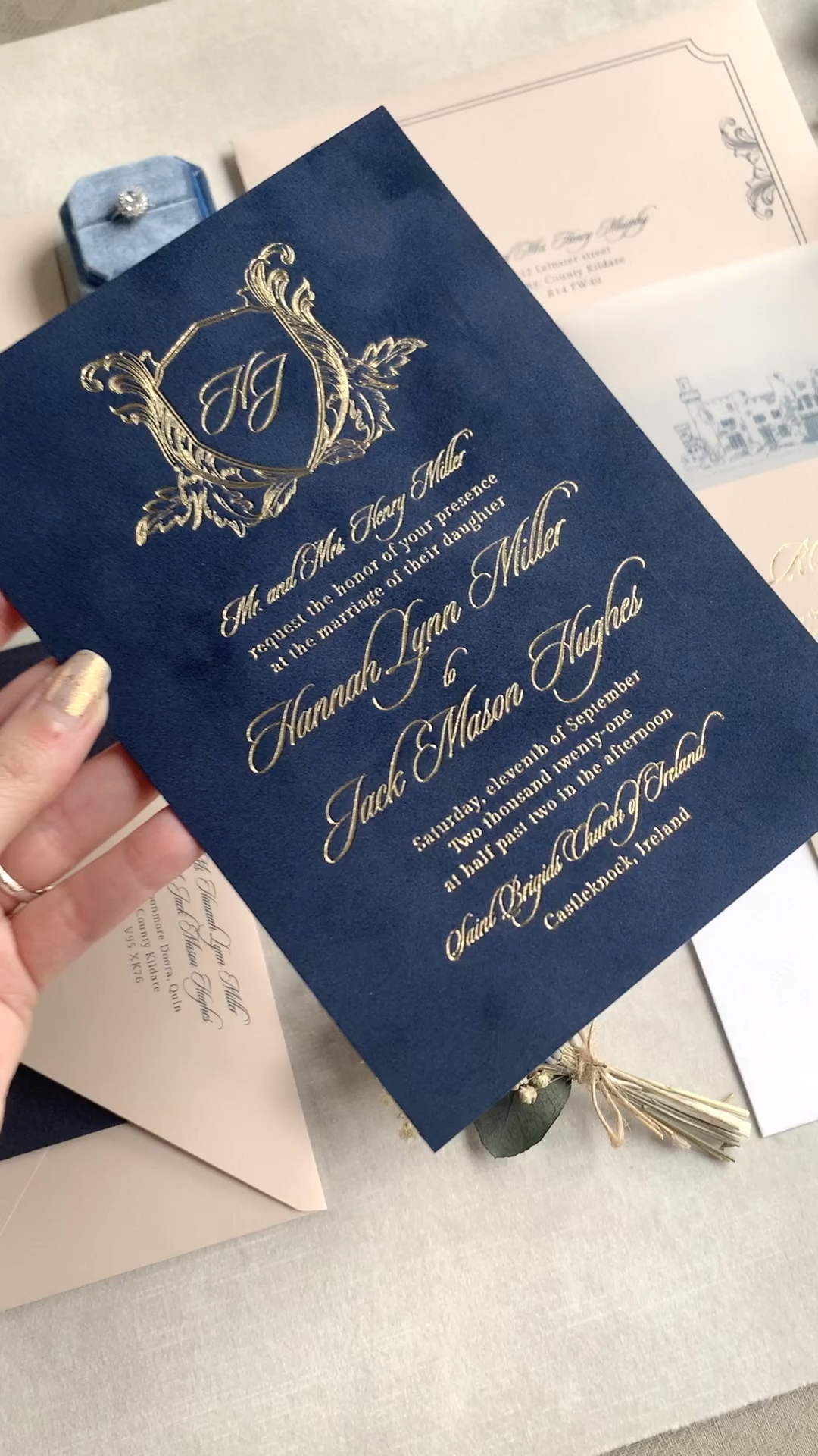 Velvet Wedding Invitations Luxury Video Wedding Invitation Cards Wedding Invitations Navy Wedding Invitations
