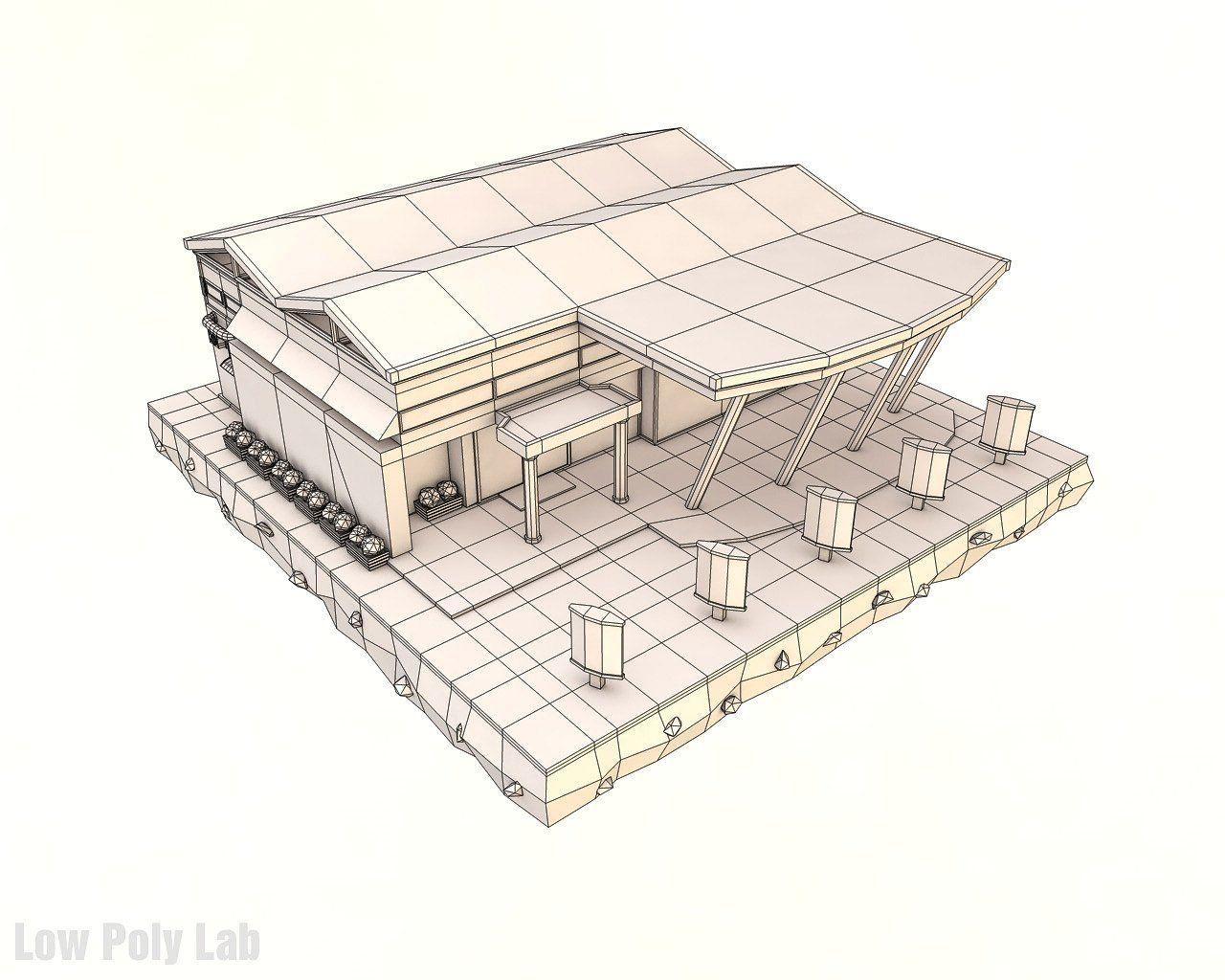 Low Poly Supermarket easyoptimizedimportproject Low